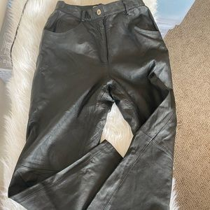Vintage leather trouser